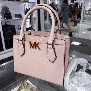 MK SM MOTT CROSSBODY SATCHEL POWDER BLUSH